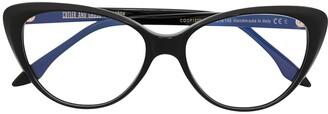 Cutler & Gross Polished Cat-Eye Frame Glasses