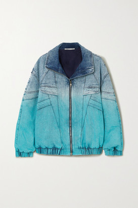 Stella McCartney Ombre Denim Jacket - Blue