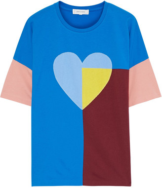 Chinti and Parker Color-block Cotton-jersey T-shirt