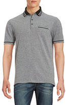 Black Brown 1826 Heathered Polo