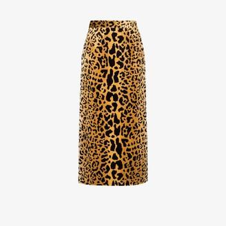 Miu Miu Leopard Print Skirt
