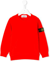 Stone Island Kids patch appliqué sweatshirt