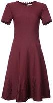 Carolina Herrera scallop edge flared dress