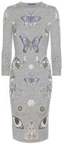 Alexander McQueen Brocade Wool-blend Jersey Dress