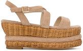 Paloma Barceló Valbonne sandals - women - Leather/Suede/Straw - 37