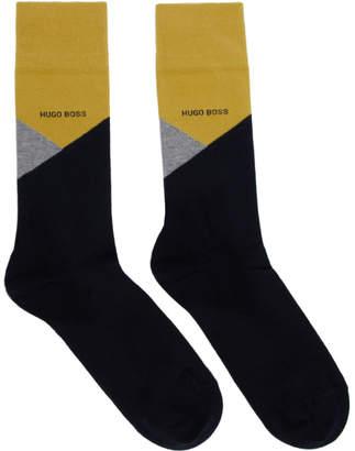 BOSS Two-Pack Navy Colorblocked Socks