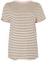 Topshop MATERNITY Stripe Roll Back T-Shirt