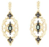 Armenta Open Scroll Mesh Drop Earrings