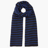 John Lewis Double Stripe Scarf, Blue