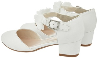 Monsoon Girls Macaroon Corsage Two Part Shoes - Ivory