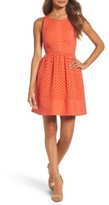 Women's Nsr Eyelet Fit & Flare Dress