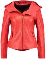 Freaky Nation SUNDANCE Leather jacket orange