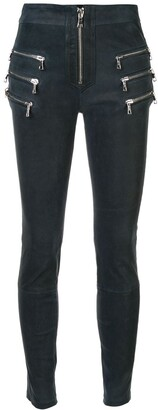 Unravel skinny textured trousers