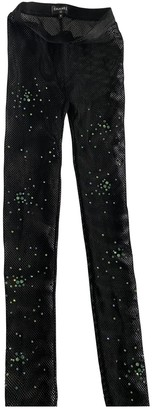 Chanel Black Spandex Trousers