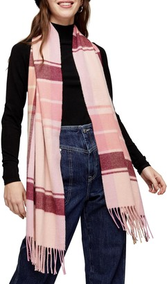 Topshop Pop Check Scarf