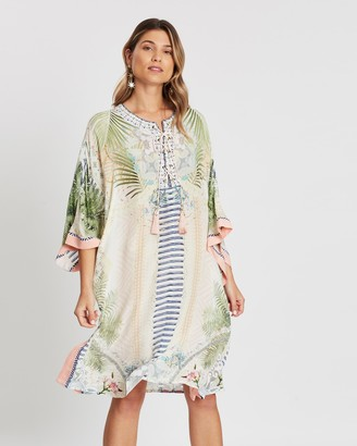 Camilla Lace Up Front Kaftan