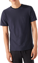 Jigsaw Vertical Stripe Short Sleeve T-shirt, Navy