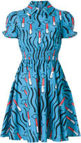 Valentino lipstick print mini dress