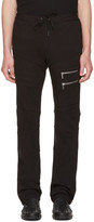 Versace Black Multi-zipper Lounge Pants