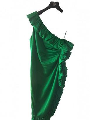 ATTICO Green Silk Dresses