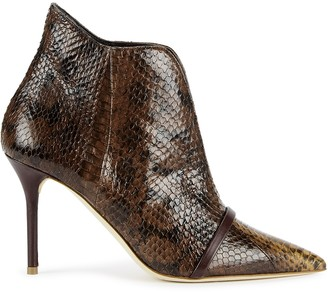 Malone Souliers Cora 85 python ankle boots