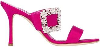 Manolo Blahnik Gable Sandals Pink