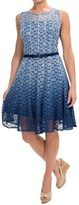 Chetta B Hombre Lace Fit & Flare Dress - Sleeveless (For Women)