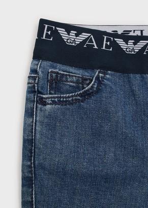 Emporio Armani J07 Jeans With Elasticated Logo Waist