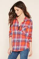 Forever 21 Button-Front Plaid Shirt