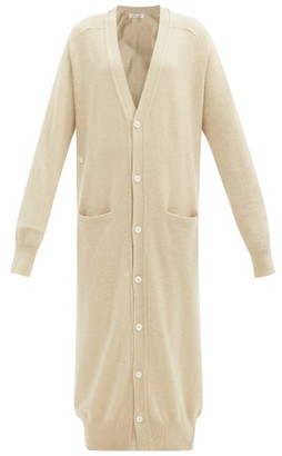 Extreme Cashmere Coco Stretch-cashmere Longline Cardigan - Cream