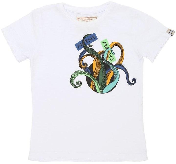 Myths Octopus Pocket Cotton Jersey T-Shirt