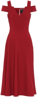 Roland Mouret Exclusive to Mytheresa Ebor crepe midi dress