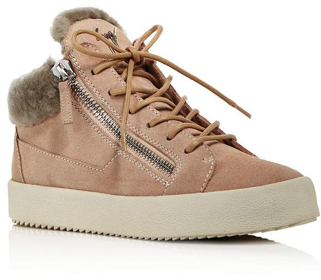 1d6a4d2b08c Women's Shearling-Lined Mid-Top Sneakers
