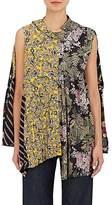 Balenciaga Women's Mixed-Print Asymmetric Swing Blouse