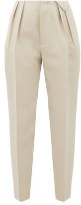 Bottega Veneta Tailored Pleated Wool Trousers - Ivory
