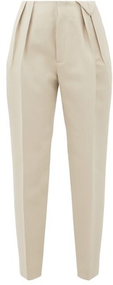 Bottega Veneta Tailored Pleated Wool Trousers - Womens - Ivory