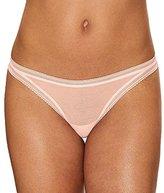 OnGossamer Women's Cotton Mesh Thong Panty