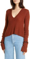 KHAITE Oliver Whipstitch Cuff Cashmere Sweater