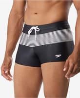 Speedo Men's Stripe Splice Square Leg Swim Trunks