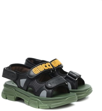 Gucci Kids Flashtrek leather sandals