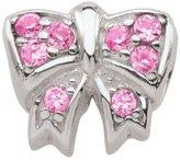 Persona Pink Crystal Bow Charm fits Pandora, Troll & Chamilia European Charm Bracelets