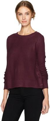 BB Dakota Women's Rita Novelty Stitched Side Buttoned Sweater
