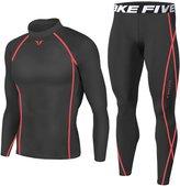 JustOneStyle Men Sports Apparel Skin Tights Compression Base Under Layer Shirts & Pants SET (, M)