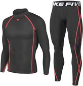 JustOneStyle Men Sports Apparel Skin Tights Compression Base Under Layer Shirts & Pants SET