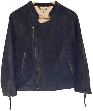 Essentiel Antwerp Blue Suede Jacket for Women