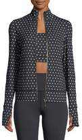 Kate Spade Polka-Dot Scallop Jacket