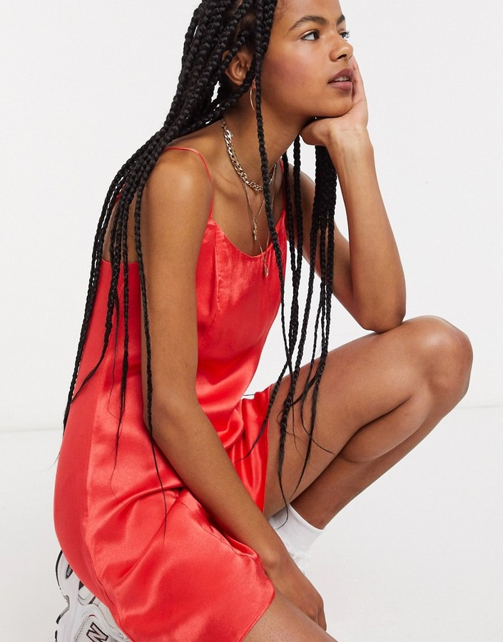 Thumbnail for your product : And other stories & satin mini slip dress in red