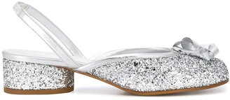 Maison Margiela Tabi glitter ballerina shoes