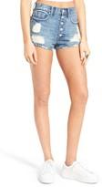 Vigoss Women's High Waist Button Front Denim Shorts