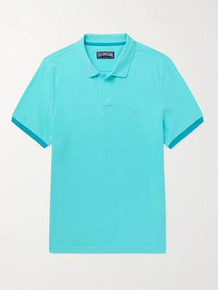Vilebrequin Palatin Contrast-Tipped Cotton-Pique Polo Shirt